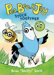 pea bee and jay stuck together