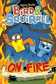 bird and squirrel on fire