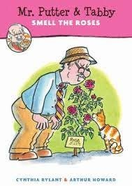 mr. putter and tabby smell the roses